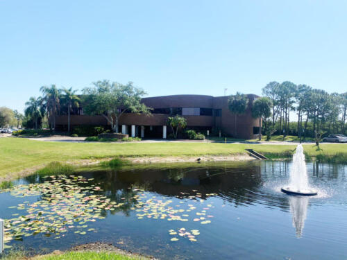 Summit Executive Center main-building fountain and pond